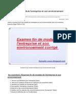 Examen fin de module l'entreprise et son environnement corrigé.pdf