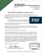 Declaration of Emergency COVID-19, 3-12-2020