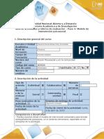Guía de actividades y rubrica de evaluación - Paso 4- Modelo de intervención psicosocial