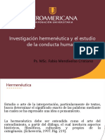 HERMENÉUTICA Y COMPORTAMIENTO HUMANO. 01.04.2019