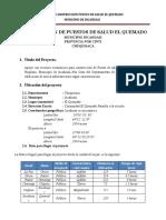 estudio socioeconomico PUESTO DE SALUD EL QUEMADO