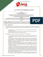 Bolivia_ Ley Nº 1227, 23 de septiembre de 2019