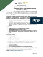 Convocatoria Adscripciones 1er cuat 2020