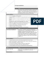 Project Roles and Reposnsibilities