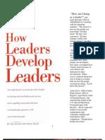 How Leaders Develop Leaders
