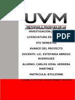 AVANCE DEL PROYECTO 030320