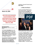 Moraga Rotary Newsletter March 10 2020