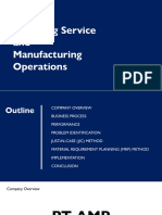 Delivering Service & Manufacturing Operations