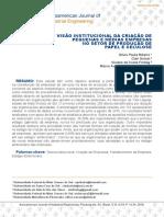 Visão Institucional Da Criação de Pequenas e Médias Empresas No Setor de Produção De