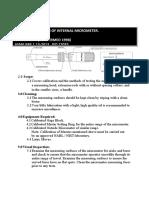 CP-005-CALIBRATION OF INTERNAL MICROMETER