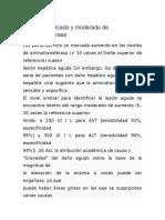 Aumento marcado y moderado de aminotransferasa