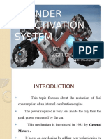 Cylinder deactivation system - An introduction