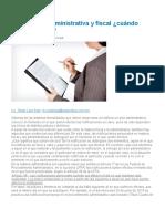 Notificación administrativa y fiscal