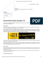 Why Join Parents Teachers Association-PTA, PTA for Schools