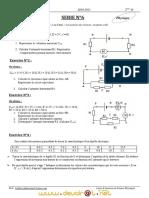 Série d'exercices N°6 (Avec correction) - Physique Loi d'ohm - Association des résistors - Récepteur atif - 2ème TI (2010-2011) Mr abdessatar   corrigé.pdf