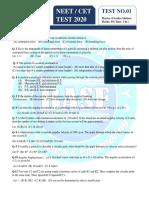 Circular motion CET Test 8-3-2020 -1 pdf