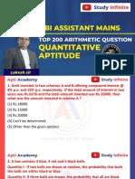 L1 Top 200 Arithmetic Questions