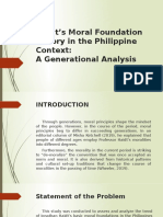 Haidt's Moral Foundation Theory in the Philippine Context