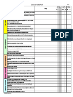 Check list for 5s audit for uty