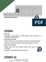 NOTES on Mesures of Leverage_CFA LEVEL 1