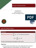 12 Functions as Power Series