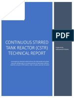 Continuous Stirred Tank Reactor (CSTR) Technical Report.pdf