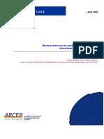 Etude portant sur les modalités de déploiement d'une boucle locale fibre optique
