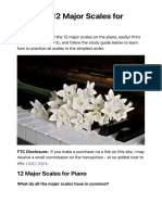 Learn all 12 Major Scales for Piano Easily