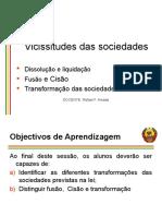 Vicissitude do contrato das sociedades -sessao 3