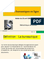 La bureautique en ligne