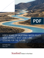 Forty Years of California Water Policy
