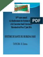 PRESENTATION DU SYSTEME DE SANTE DU BURKINA FASO.  Emma.pdf