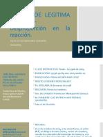 EXCESO DE LEGITIMA DEFENSA-Desproporción en la reacción