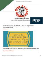 Lista de VERBOS REGULARES en inglés con pronunciación