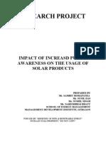 Research Design Case Impact of Public Awareness on Increasing the Usage of Ren Ener