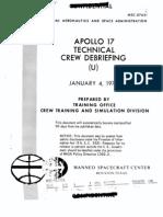Apollo 17 Technical Crew Debriefing