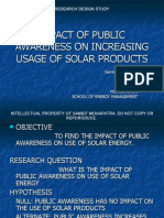 Impact of Public Awarenss on Increasing Usage of Solar Products