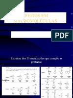 Efeitos em macromoleculas-proteinas
