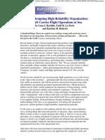 The Self-Designing High-Reliability Organization - Rochlin et al. -