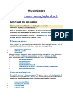 MuseScore Manual De Editor de Partitura