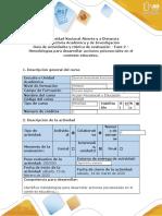 Guía de actividades y Rúbrica de evaluación-Fase 2_Metodologías para desarrollar acciones psicosociales