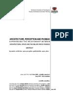 ARHITECTURA PERCEPTIE SI FOBII_rezumat_en_dana POP
