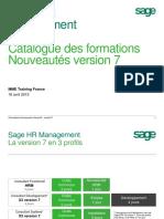 Sage HR Management Catalogue Gap v6v7 France Hrm