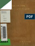 Kirk J.W.C. - Notes on the Somali Language
