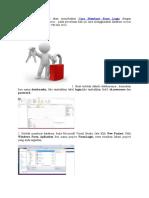 Cara Membuat Form Login dengan menggunakan database access