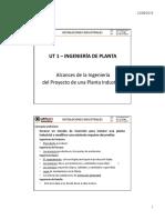 1.1 Ingeniería de Planta - Alcances de la Ingeniería de un Proyecto