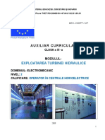 Exploatarea turbinei hidraulice.doc