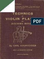 Technics of violin playing on Joachim's Method by Carl Courvoisier.pdf