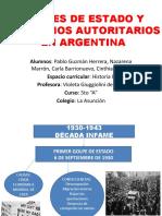 Golpes de Estado y Gobiernos Autoritarios en Argentina [Autoguardado]