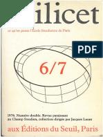 Scilicet Livro 6-7